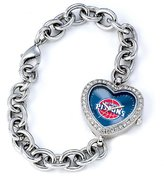 Game Time NBA Women's BH-DET Heart Collection Detroit Pistons Watch