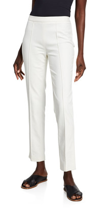 PARTOW Maurice Seamed Compact Cotton Side-Zip Pants
