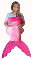 5 feet Mermaid Tail Blanket Pink Fleece Fabric for Girls Kids and teens Age 3-15 Years Old. Best and Super Cuddly Gift for Christmas and Birthday