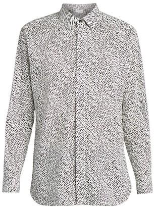 Saint Laurent Print Button-Down Shirt