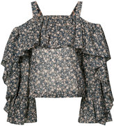 Robert Rodriguez floral blouse - women - Cotton - 2