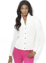 Lauren Ralph Lauren Sweater, Long-Sleeve Shawl-Collar Cardigan