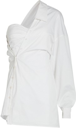 RtA Lana Asymmetric Corset Shirt Dress