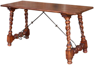 One Kings Lane Vintage Indo Portuguese Barley Twist Teak Table - de-cor