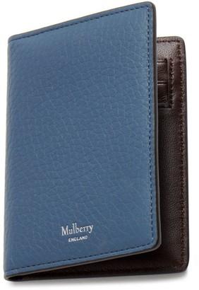 Mulberry Card Wallet Pale Navy Heavy Grain