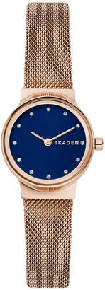Skagen Freja Mesh Stainless Steel Bracelet Watch