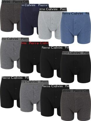FM London Mens Cotton Button Fly Boxer Short (Pack of 12) - Multicolor - XL