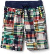 Gap Patchwork plaid pull-on shorts