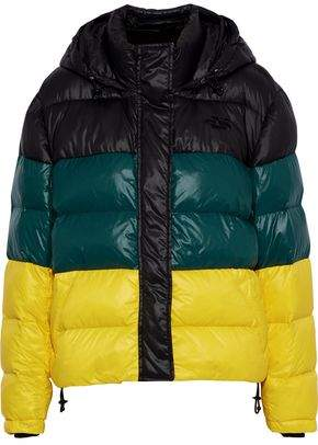 Proenza Schouler Color-block Quilted Shell Hooded Coat