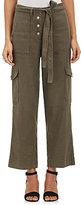 Robert Rodriguez Women's Slub-Weave Linen Cargo Pants