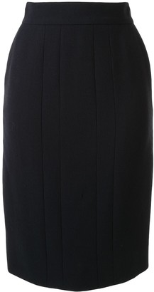 Chanel Pre Owned Pleated Pencil Skirt