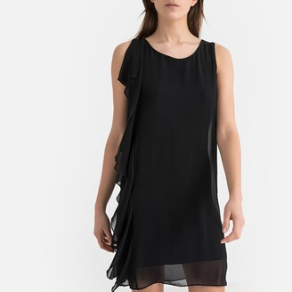 Naf Naf Ruffled Short Sleeveless Dress