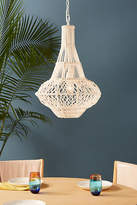 Anthropologie Long Macrame Pendant