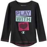 Champion Toddler Girl Long Sleeve Droptail Graphic Tee