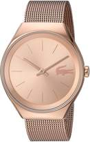 Lacoste Women's 'Valencia' Quartz and Stainless Steel Automatic Watch, Color: Gold-Toned (Model: 2000953)
