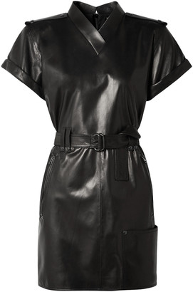 Tom Ford Belted Leather Mini Dress