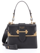 Prada Cahier leather tote