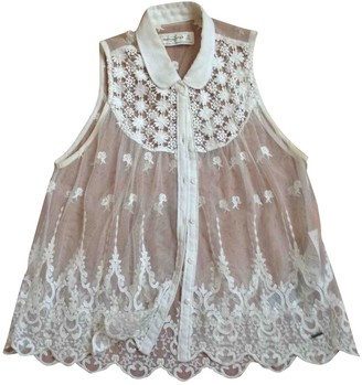 Abercrombie & Fitch White Lace Top for Women