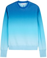 Orlebar Brown Morely Blue Dégradé Cotton Sweatshirt