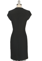 L'Agence Quilted Yoke Zip Front Dress