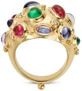 Temple St. Clair 18K Yellow Gold Cosmos Bombe Ring with Royal Blue Moonstone, Tsavorite, Tanzanite, Pink Tourmaline and Diamonds
