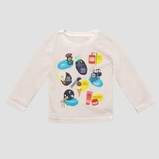 Fifth Sun Toddler Inventors Long Sleeve T-Shirt - Cream
