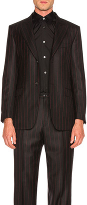 Cobra S.C. Peak Lapel Blazer in Black & Red | FWRD