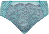 Ashley Graham Plus Size Lace and print knickers