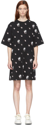 McQ Black Botan Swallow T-Shirt Dress