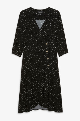 Monki Buttoned wrap dress
