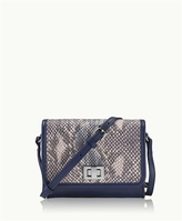GiGi New York Catie Crossbody Blue-Multi Genuine Anaconda