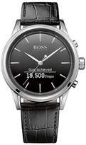 HUGO BOSS BOSS Classic Leather Strap Smart Watch, 44mm