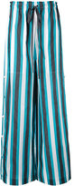 Ports 1961 striped palazzo pants - women - Cotton/Cupro - 40