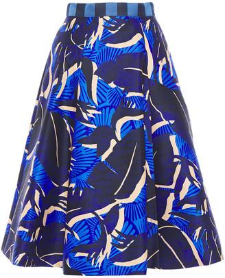 Stella Jean Flared Printed Taffeta Skirt