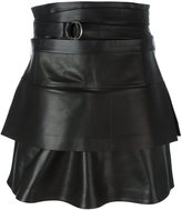 IRO belted leather skirt
