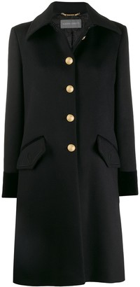 Alberta Ferretti Single-Breasted Fitted Coat