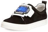 Pierre Hardy Gem Slider Suede Sneaker, Black