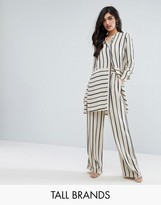 Y.A.S Tall Stripe Wide Leg Pant Co-Ord