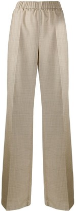 Agnona wide leg high waisted trousers