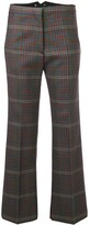 Golden Goose flared check-print trousers