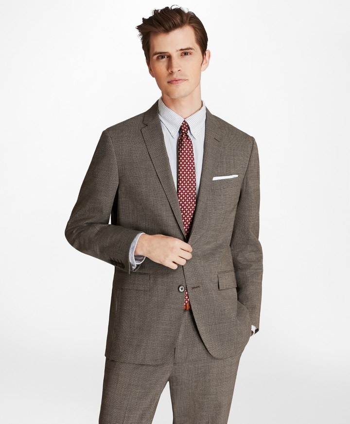 Brooks Brothers Multi-Check Two-Button Wool Suit Jacket