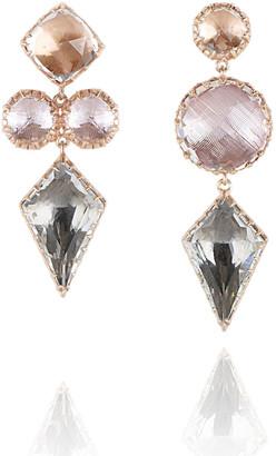 Larkspur & Hawk Sadie Mismatched Kite Drop Earrings in Multi-Peach Foil