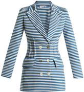 Sonia Rykiel Striped double-breasted cotton-blend jacket