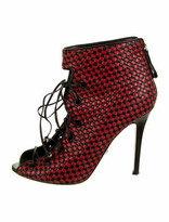 Thumbnail for your product : Daniele Michetti Leather Printed Pumps Black