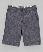 Micros Black Dr. Stoobing Walk Shorts - Boys