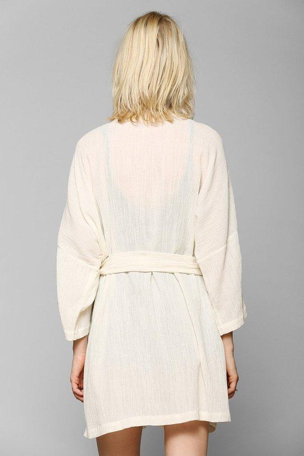 Urban Outfitters FAMILY AFFAIRS Elba Gauze Kimono Jacket