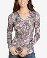 William Rast Woodland Printed Henley Top