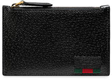 Gucci Web trim card case - men - Leather - One Size