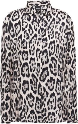 Just Cavalli Leopard-print Satin Shirt