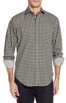 Thomas Dean Men's Gradient Check Sport Shirt